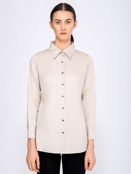 Navy Blue Button-down Organic Cotton Dress