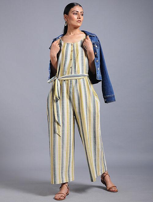 7cd2a78e8f0 Buy Multicolored Striped Khadi Jumpsuit Online at Jaypore.com