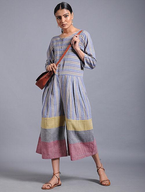 b6093057113b Buy Multicolored Striped Khadi Jumpsuit Online at Jaypore.com