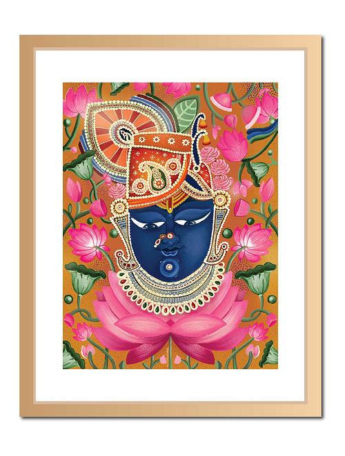 Lord Sri Nath Ji Pichwai Digital Art on Paper