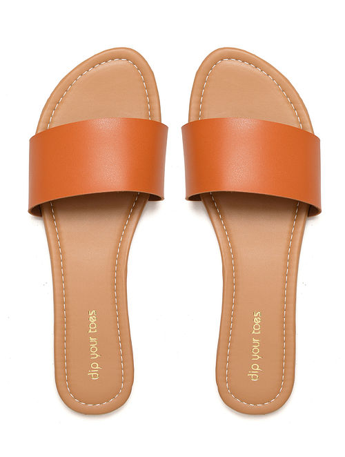 Tan Handcrafted Leather Flats