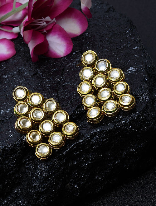 Gold Plated Kundan Earrings