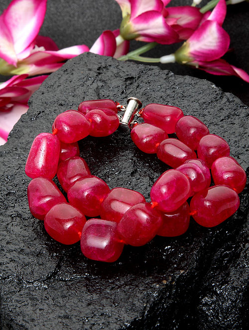 Maroon Beaded Bracelet