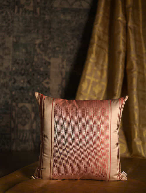 Sartorial Red Silk Cushion Cover (18in x 18in)
