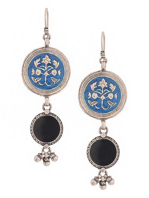 6da66aaf9d3 Buy Blue-Black Enameled Silver Earrings Online at Jaypore.com