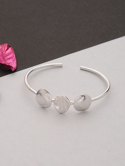 Silver Plated Handcrafted Cuff