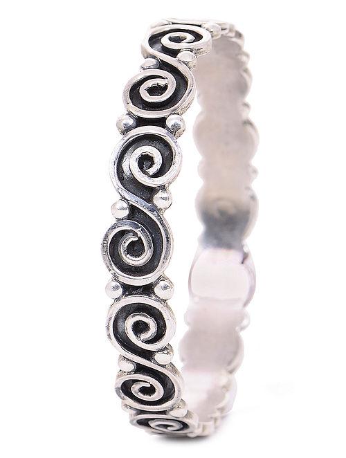 Tribal Silver Bangle (Bangle Size -2/10)