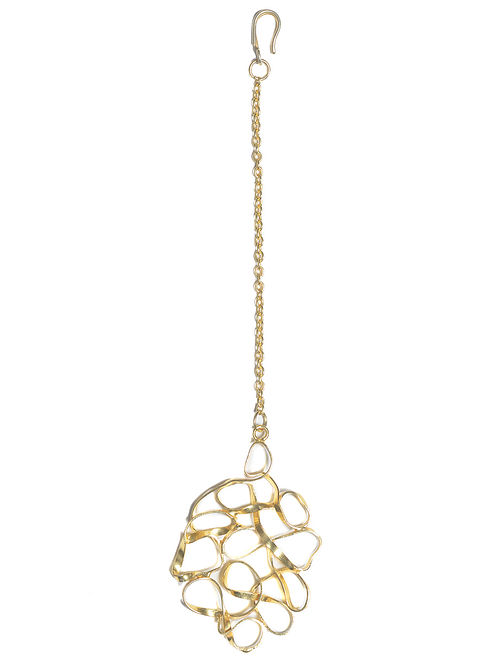 Classic Gold Tone Handcrafted Brass Maang Tikka