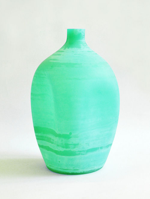 Organic Milky Soft Glass Vase