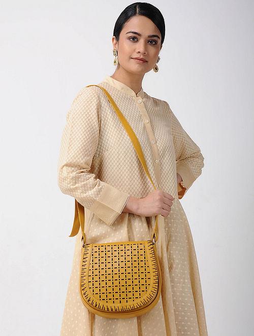 Yellow Handcrafted Saddle Bag
