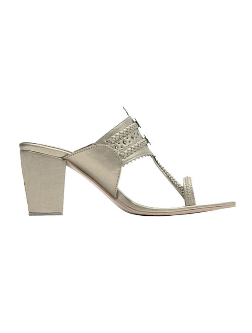 Champagne Handcrafted Block Heels
