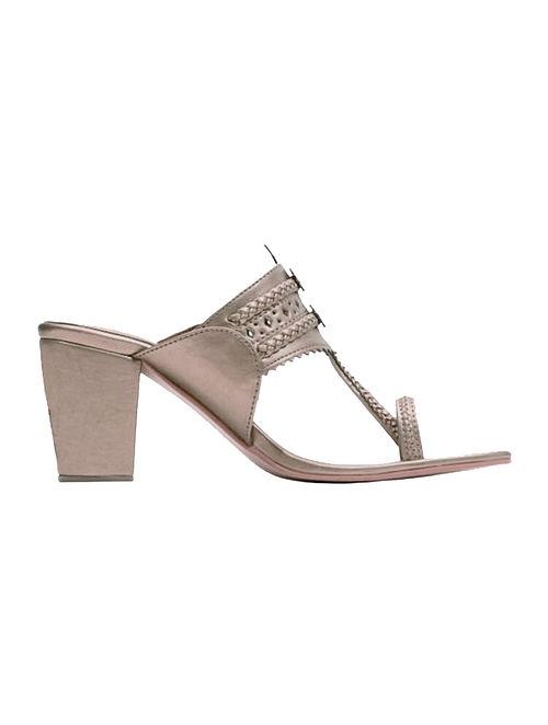 d0799f6cadd Buy Rose Gold Handcrafted Block Heels Online at Jaypore.com