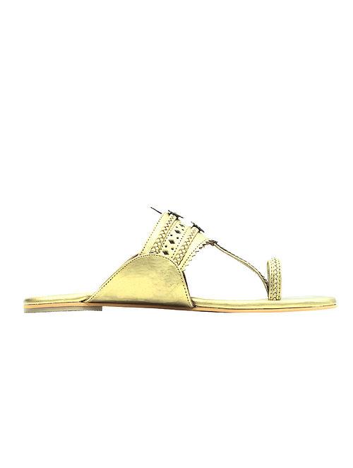 Golden Handcrafted Flats