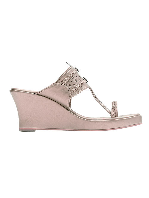a1dcd54c3a5e68 Buy Rose Gold Handcrafted Wedges Online at Jaypore.com