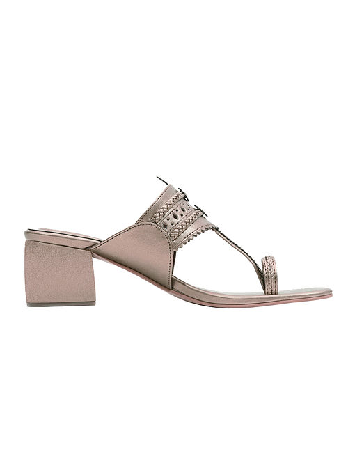 Rose Gold Handcrafted Box Heels