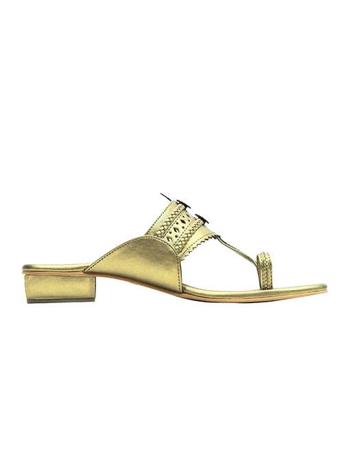 Golden Handcrafted Heels