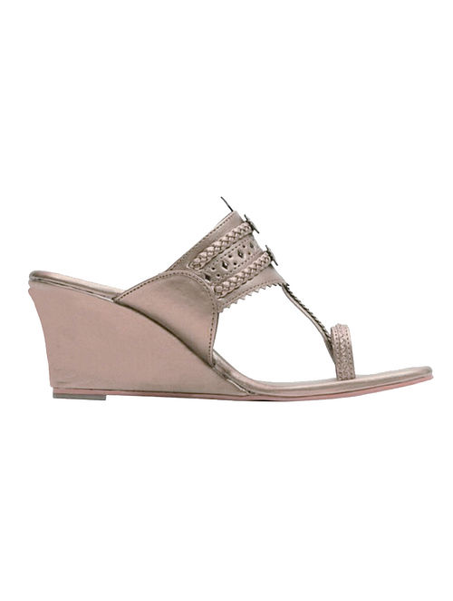 d8a7515afa Buy Rose Gold Handcrafted Wedges Online at Jaypore.com
