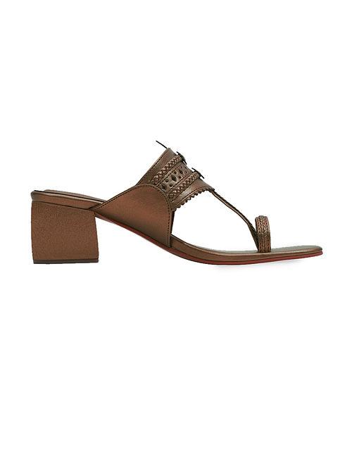 Copper Handcrafted Box Heels