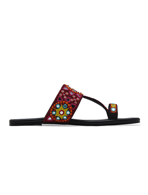Multicolored Handcrafted Leather Kolhapuris