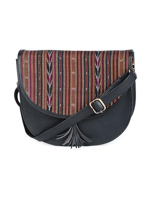 Black Ikat Cotton Handcrafted Sling Bag