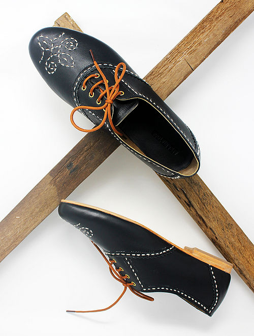 Black Handcrafted Leather Shoes