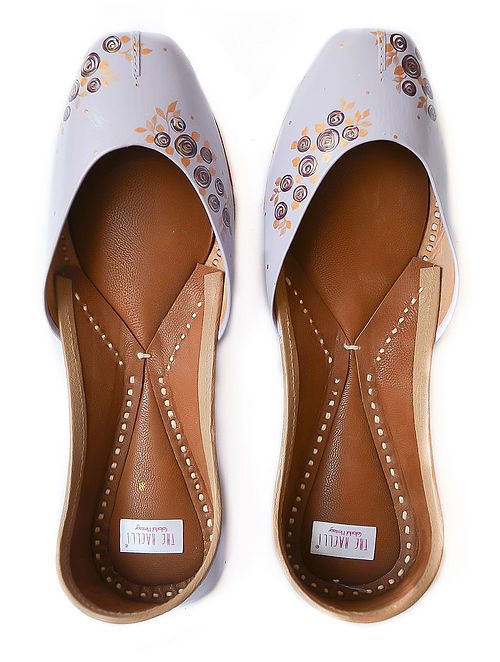 Lilac Handpainted Leather Jutti