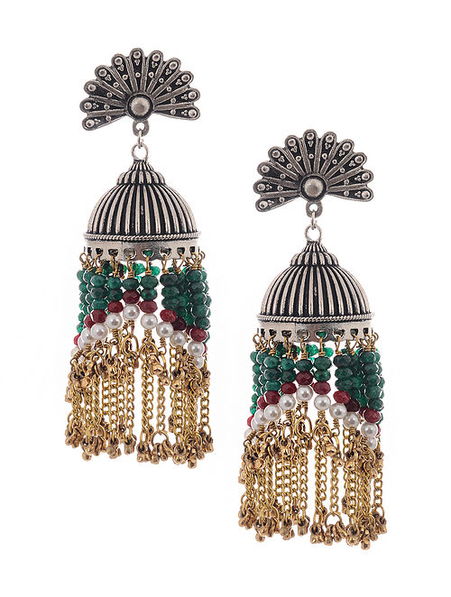 Multicolored Dual Tone Jhumkis