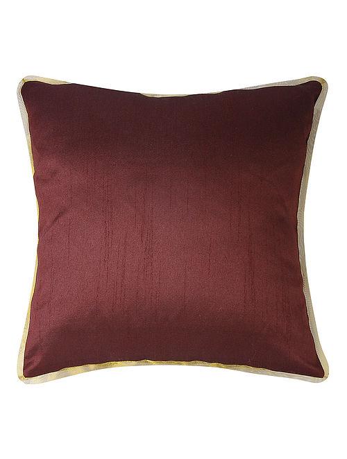 Wine Dupion Silk Cushion Cover (16in x 16in)