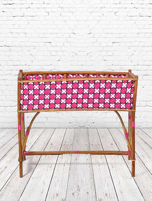 Parisian Wicker Pink-Multicolor Rattan and Wicker Planter (L- 21.5in, W- 42.5in, H- 35in)