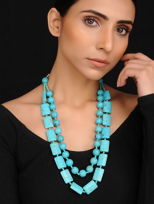 Turquoise Handcrafted Gemstone Beaded Necklace