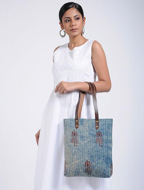 Indigo Handcrafted Cotton Tote Bag