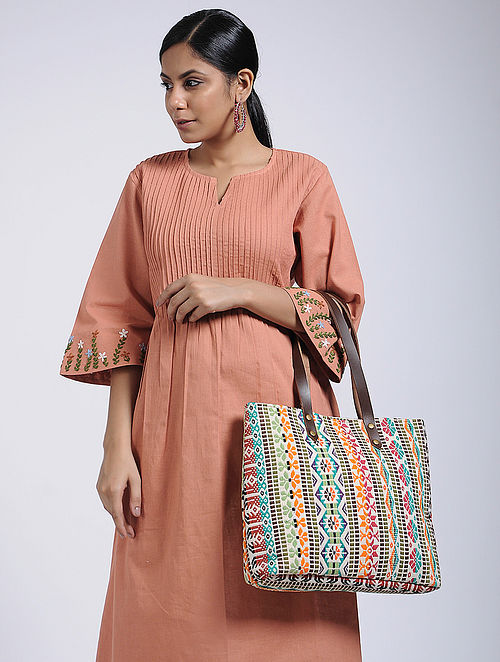 Multicolored Handcrafted Tote Bag