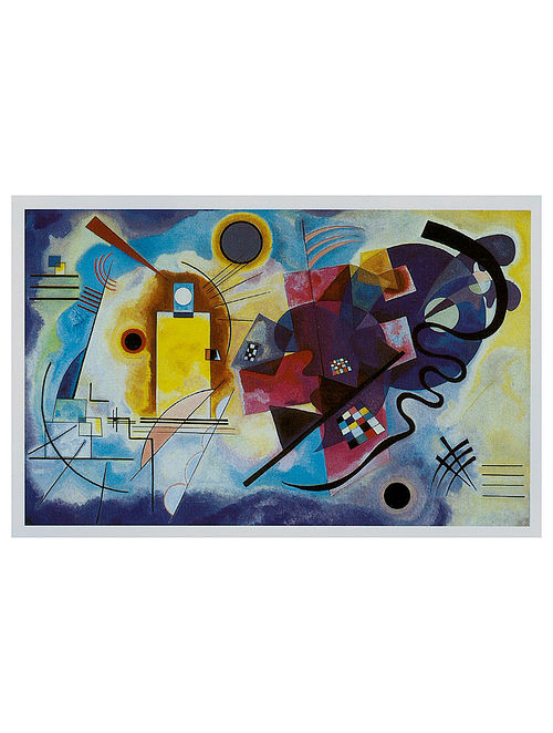 Gelb-Rot-Blau - Wassily Kandinsky Litho Print on Canvas