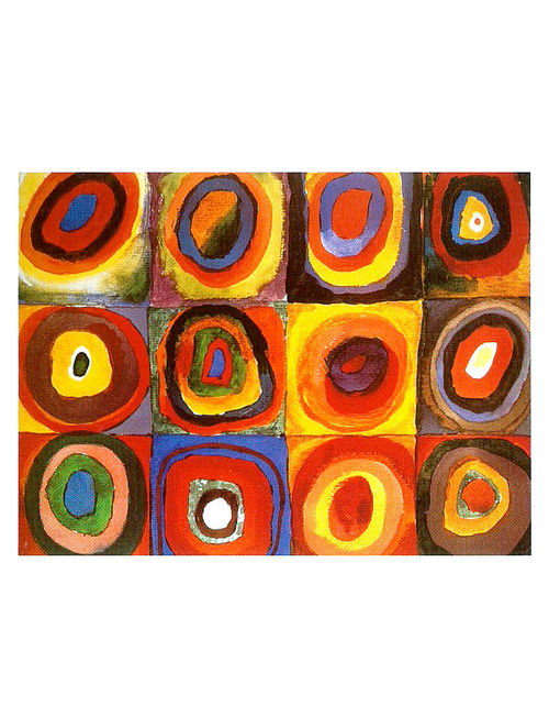 Color Study. Squares with Concentric Circles - Wassily Kandinsky Litho Print on Paper