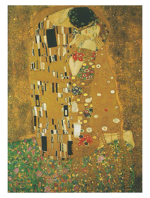 The Kiss - Gustav Klimt Litho Print on Paper