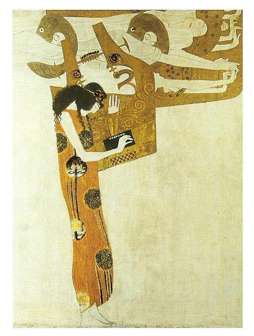 Poesie - Gustav Klimt Litho Print on Canvas