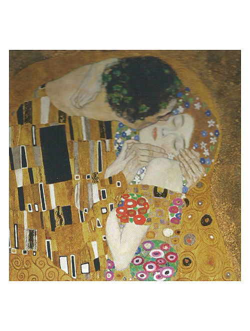 The Kiss - Gustav Klimt Litho Print on Canvas
