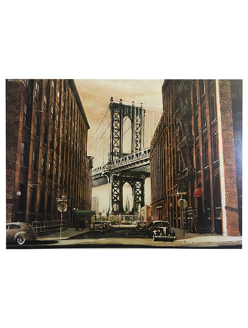 View to the Manhattan Bridge, NYC Print on Paper - Matthew Daniels