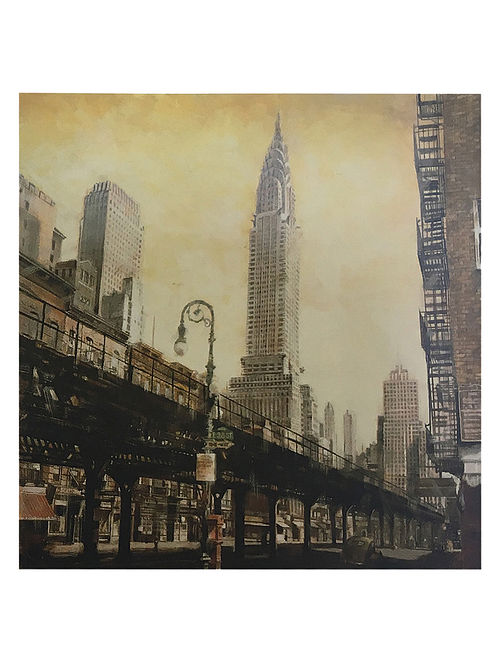 The Chrysler Building from the L Print on Paper