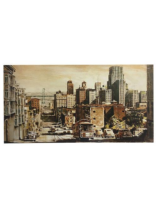 San Francisco View to Bay Bridge Print on Paper - Matthew Daniels