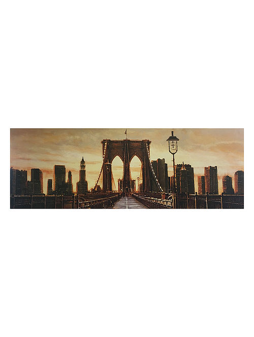 Manhattan Evening Print on Canvas - Matthew Daniels