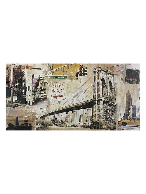 Manhattan Print on Canvas - Tyler Burke