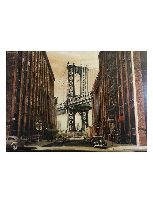View to the Manhattan Bridge, NYC Print on Canvas - Matthew Daniels