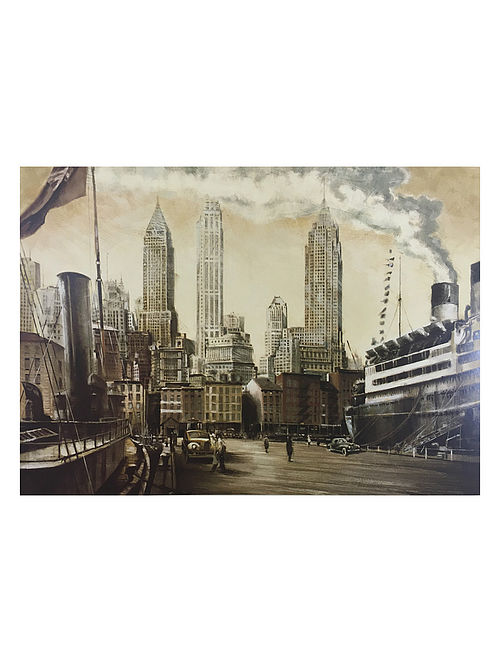 Departure, NYC Print on Canvas - Matthew Daniels