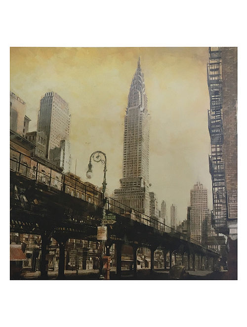The Chrysler Building from the L Print on Canvas