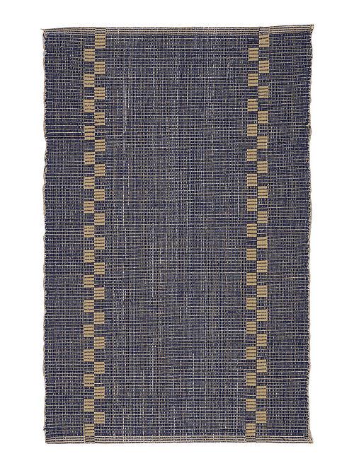 Blue-Beige Handwoven Cotton Placemats (Set of 6)