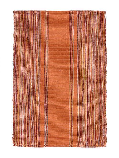 Orange Handwoven Cotton Placemats (Set of 6)