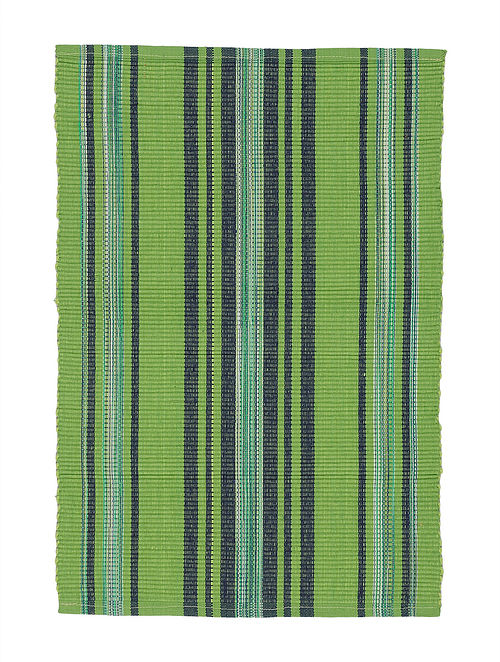 Green-Blue Handwoven Cotton Placemats (Set of 6)