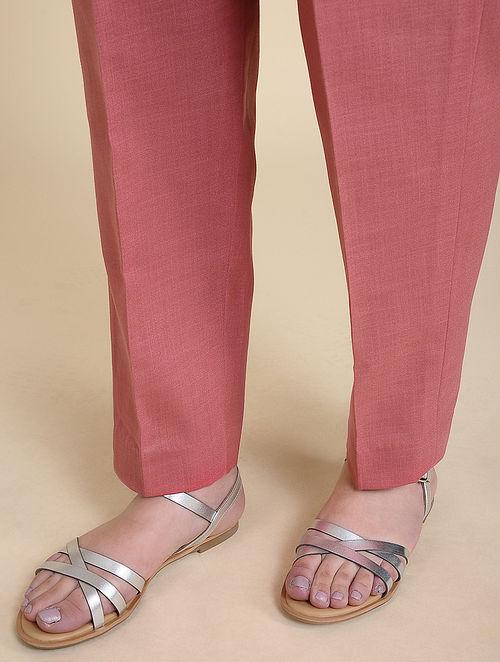 Pink Matka Cotton Pants