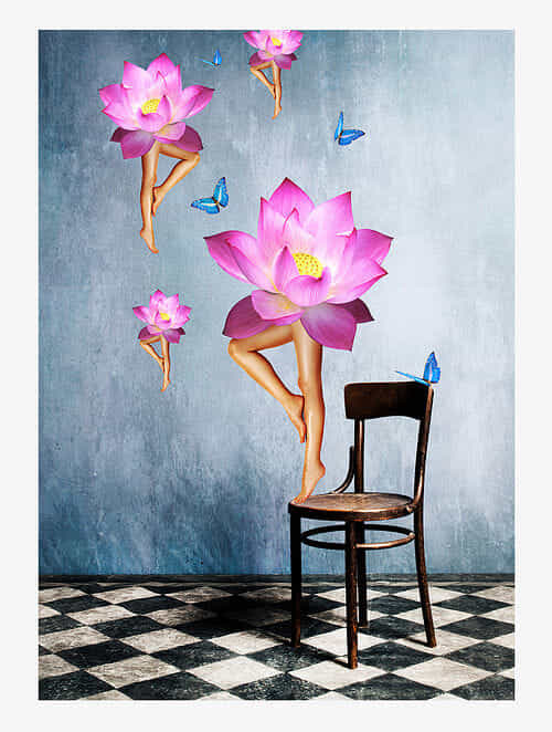 Lotus Love Art Print On Paper